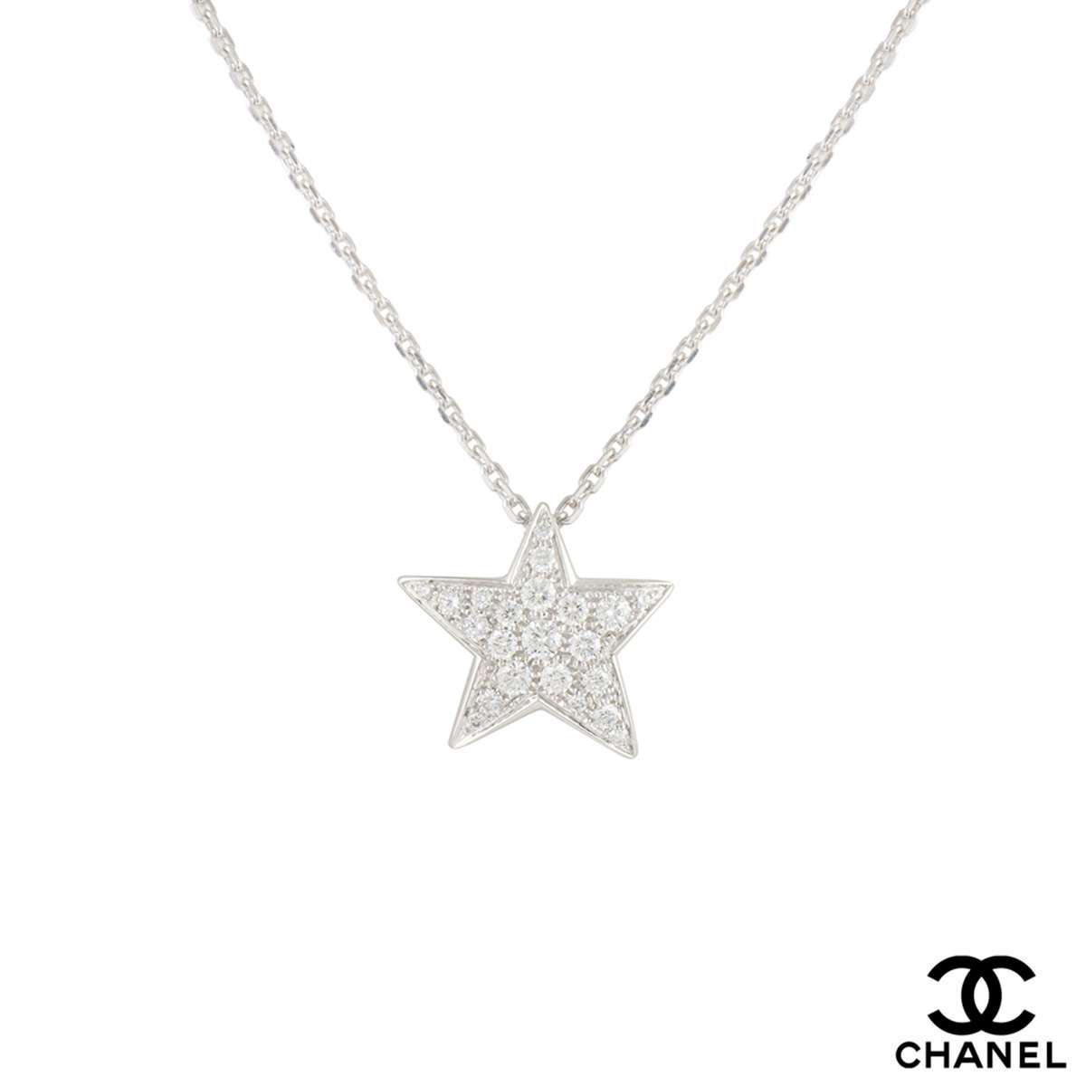 Chanel White Gold Diamond Comete Pendant 0.68ct D-F/VVS1 J0869